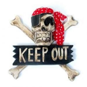 skull and crossbones signs