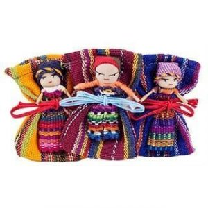 Large Worry Doll with Bag