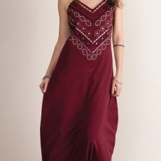 Organic long dress red