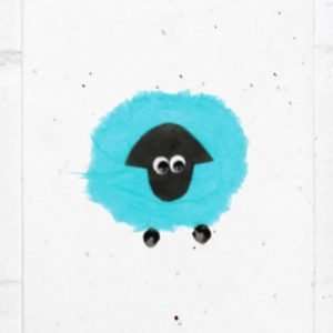 Blue sheep seed card