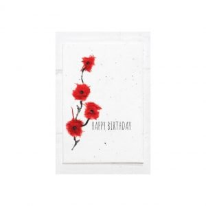 happy birthday poppy seed card