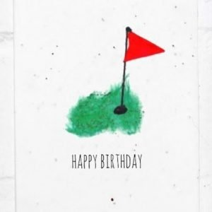 birthday card golf seed card