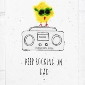 keep rocking on dad seed card