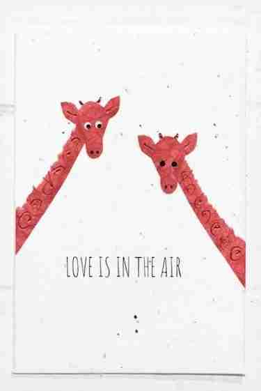 love is in the air wedding card