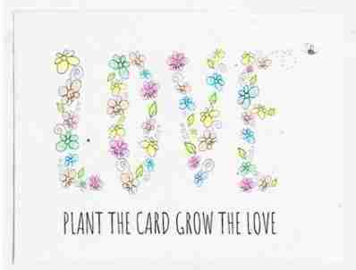 seed card plant the card grow the love seed card