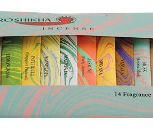 Auroshikha Incense: Mini Palette of 14 Fragrances in a gift pack