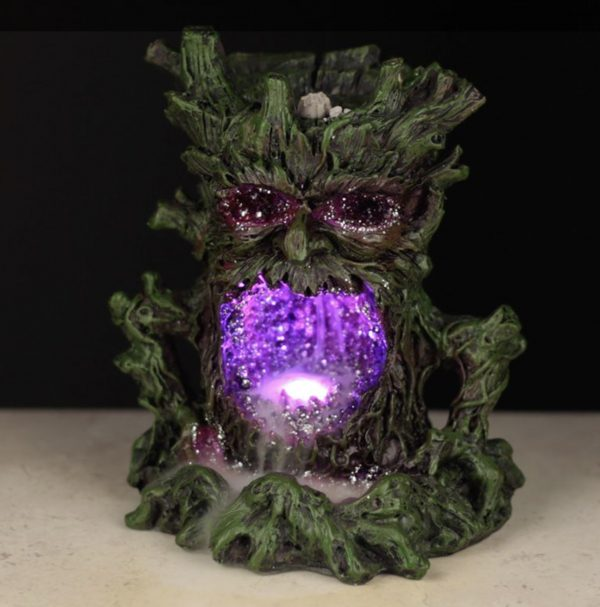 Green Man backflow incense burner LED