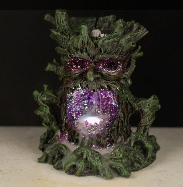 Green Man backflow incense burner