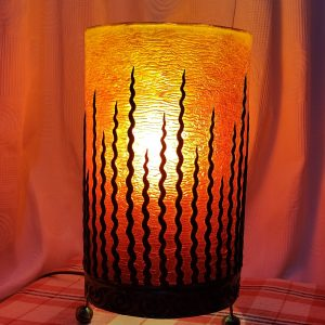 Orange lines table lamp