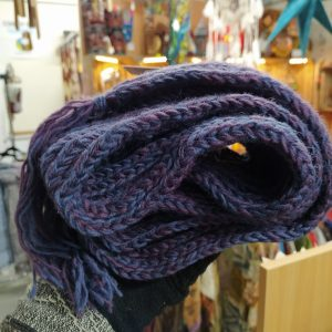 Long Scarf in grape/blue by Blackyak
