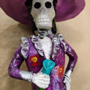Calavera Catrina Ceramic: close up of face