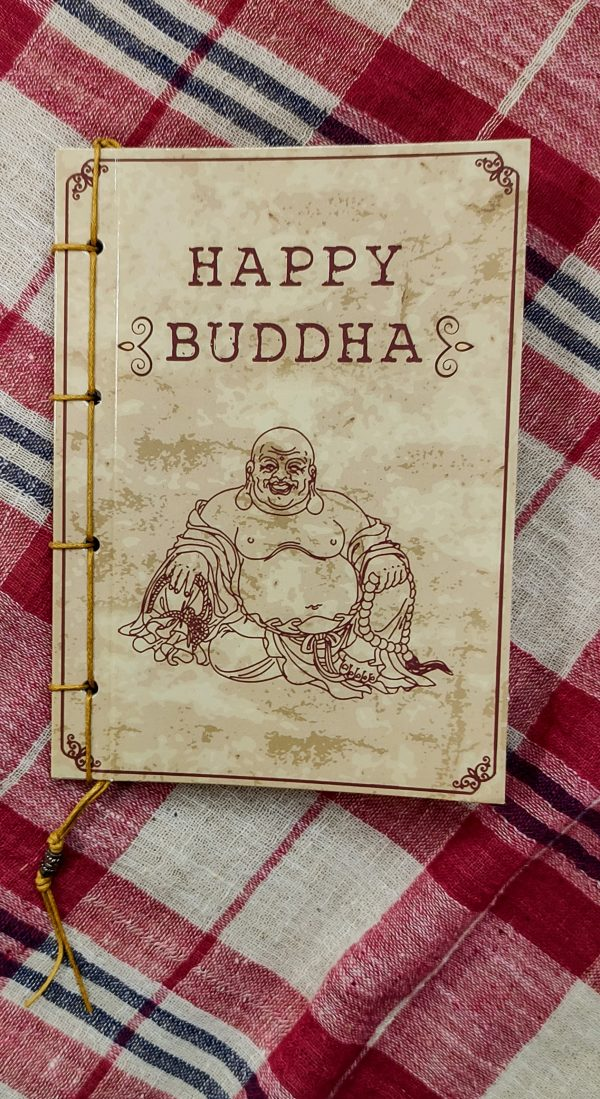 Happy Buddha notbook with image of buddha on the front