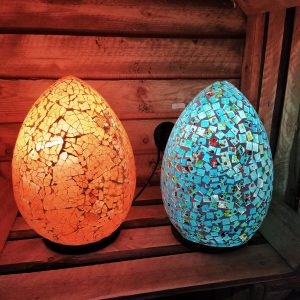Mosaic Egg Table Lamp