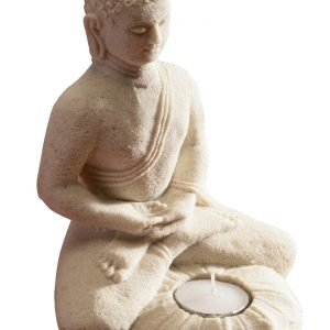 Sitting buddha t-light holder